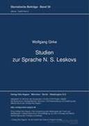 Studien zur Sprache N. S. Leskovs