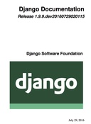 Django Documentation 1.9.x