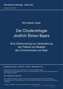 Die Chodentrilogie Jindřich Šimon Baars