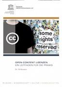 Open Content Lizenzen ein leitfaden für die Praxis