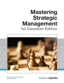 Mastering Strategic Management - 1st Canadian Edition
