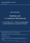 Goethes Lyrik in russischer Uebersetzung