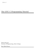 The GNU C Programming Tutorial