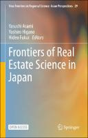 Frontiers of Real Estate Science in Japan