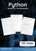 Python® Notes for Professionals
